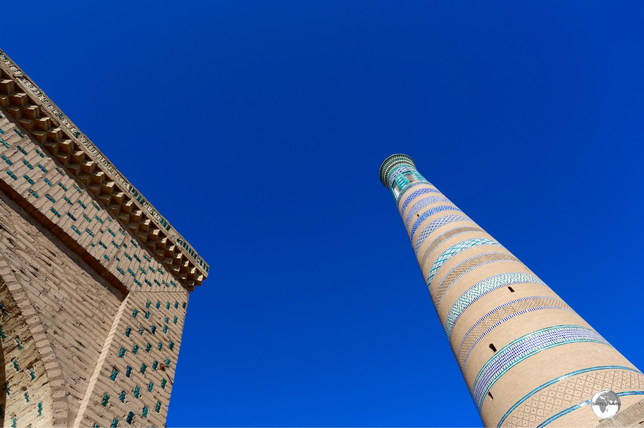 The towering Islam Khoja Minaret in Khiva.
