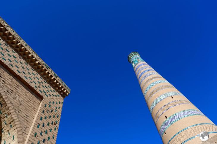 The towering Islam Khoja Minaret in Khiva.