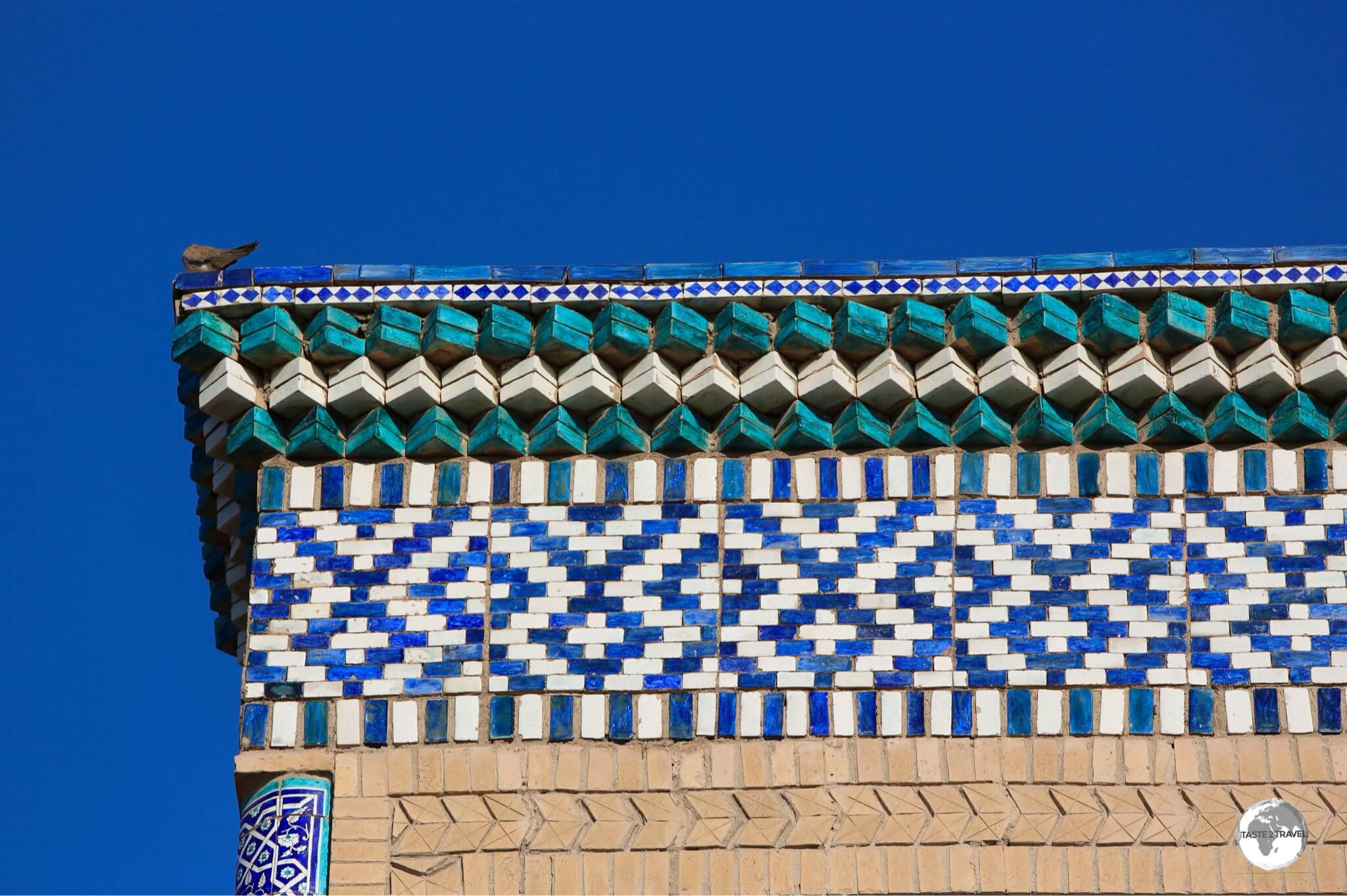 Tile-work on the Islam Khoja Madrasah.