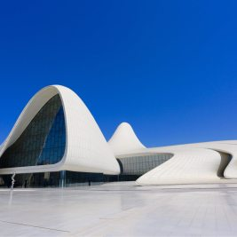 A masterpiece of architecture, the Zaha Hadid-designed Heydar Aliyev Centre, Baku.