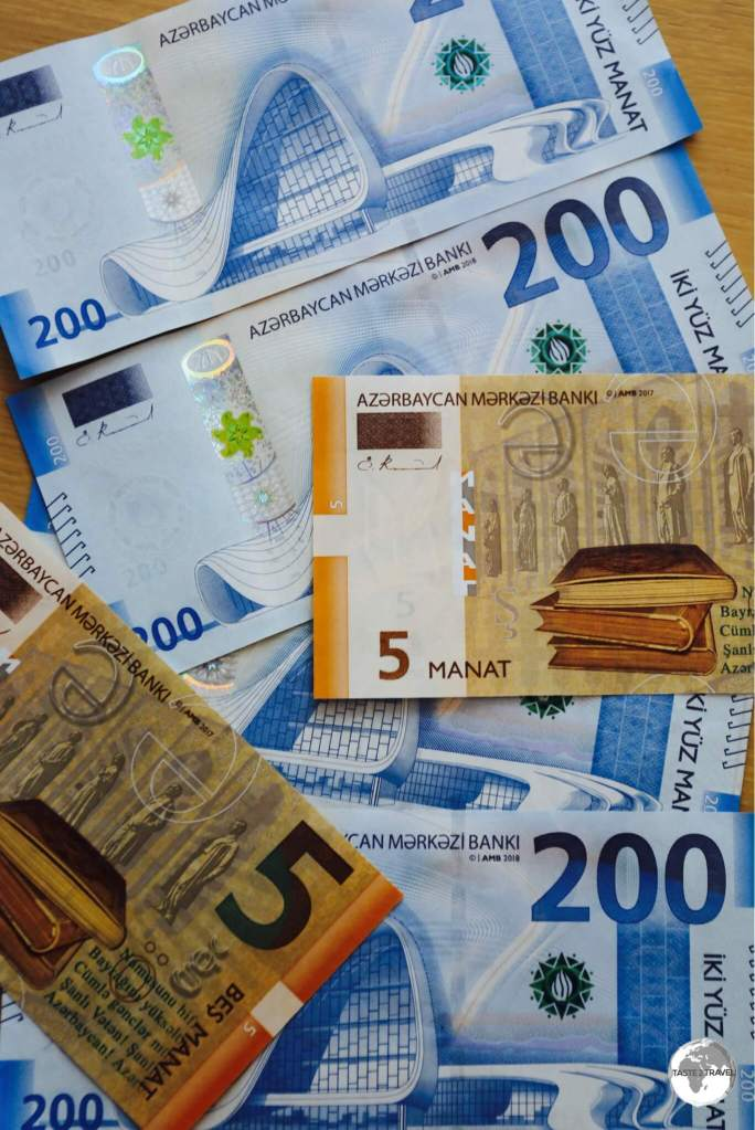 The currency of Azerbaijan, the Manat, was designed by the same Austrian artist who designed the Euro banknotes.