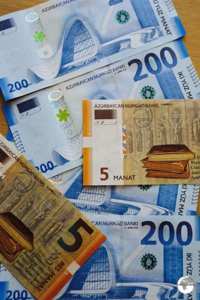 Azerbaijan Manat banknotes.