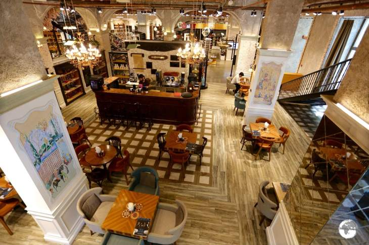 A great place to chill and enjoy a delicious coffee - Baku Book Centre Cafe.