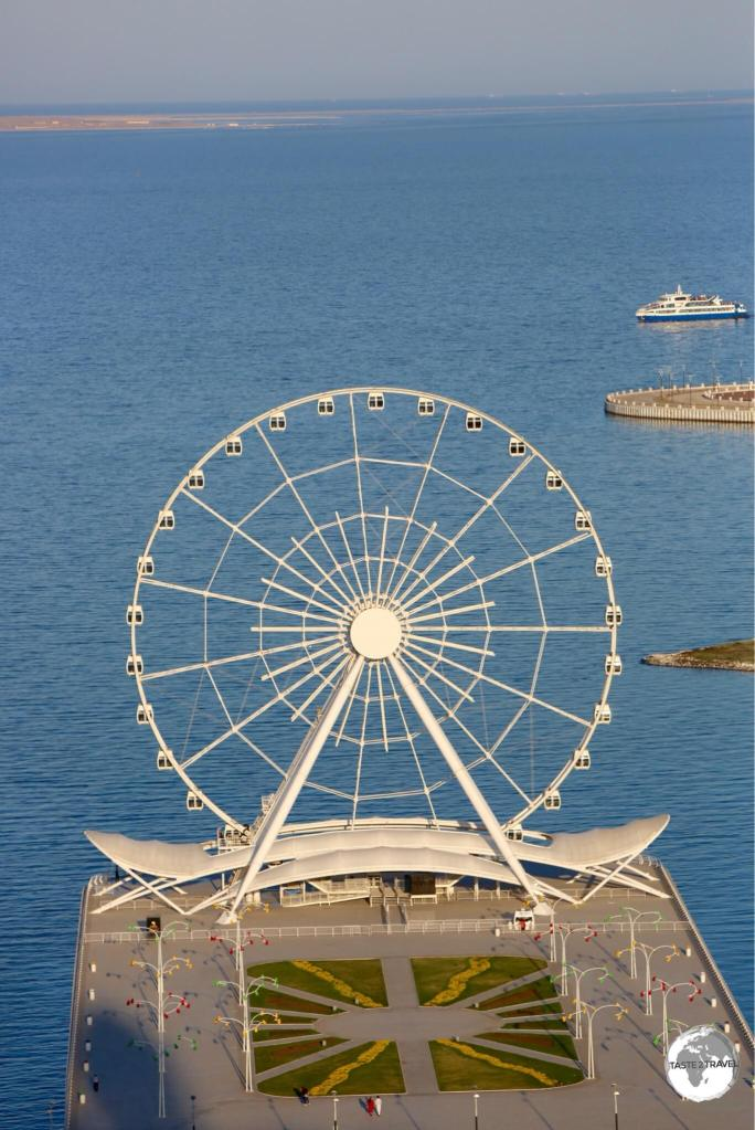 The 60-metre-tall 'Baku Eye' is a great place to watch the sunset over Baku bay.