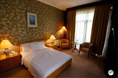 My comfortable room at the Sheki Saray hotel in Sheki.