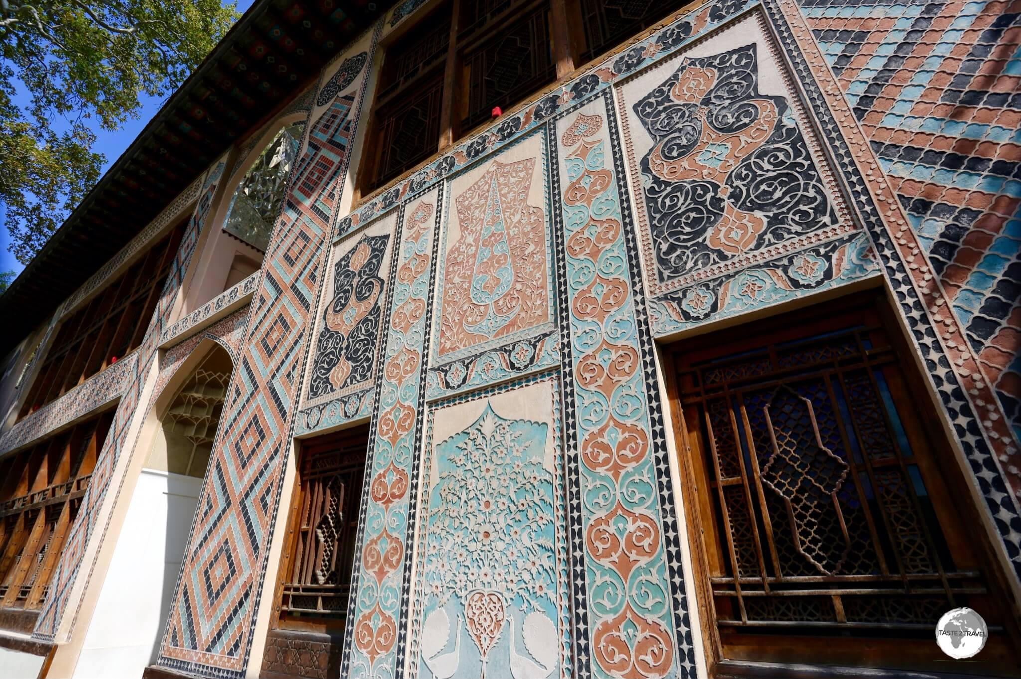 The exterior of the Palace of the Sheki Khans – photos are not allowed inside.