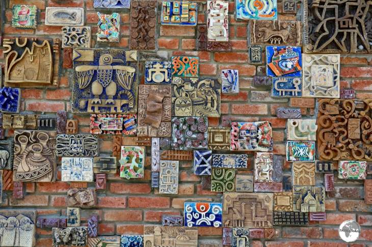 Craft Centre Wall, Sheki, Azerbaijan.