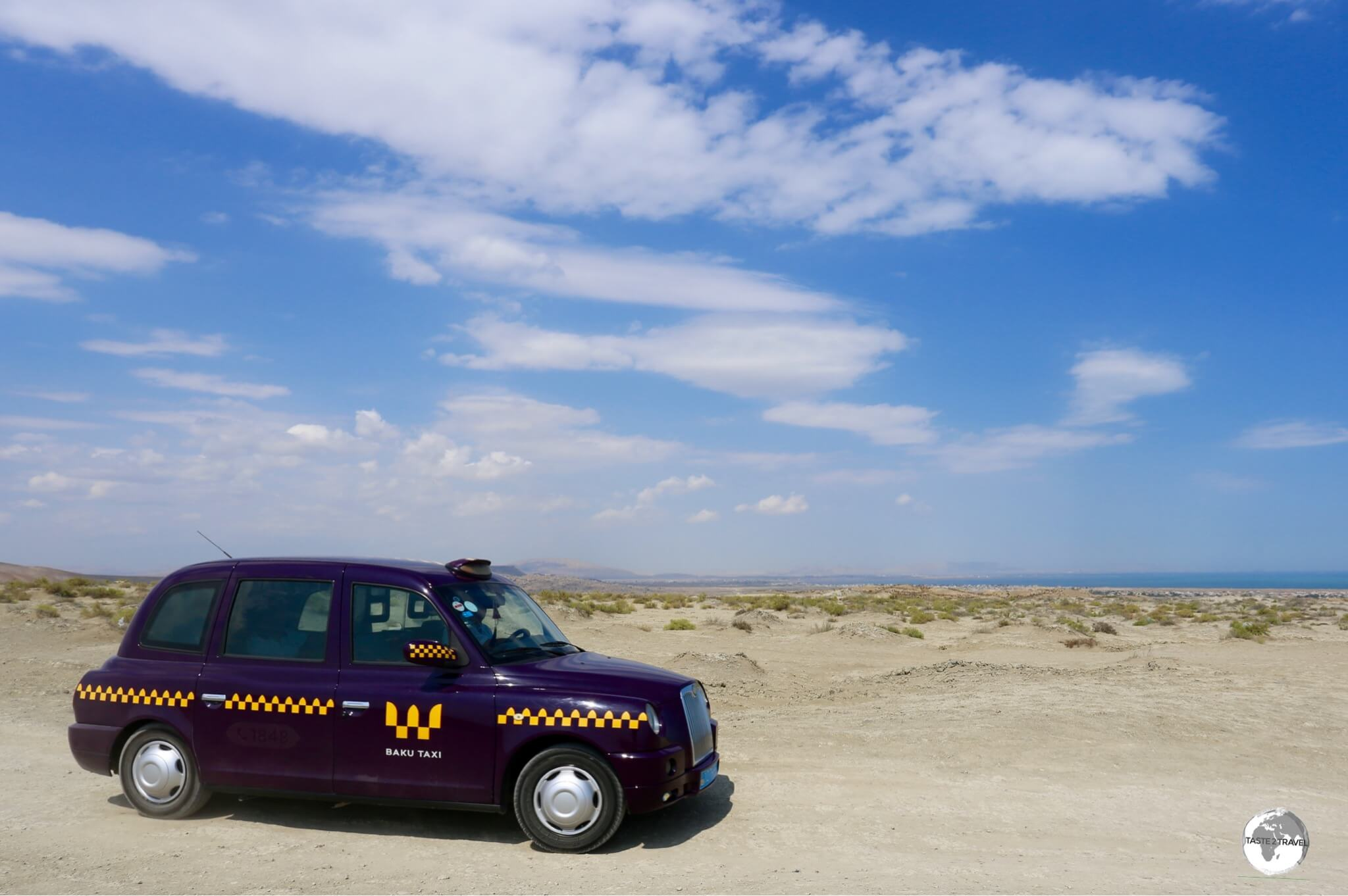 Unlike their London counterparts, Baku Taxis can be hired for off-road adventures.