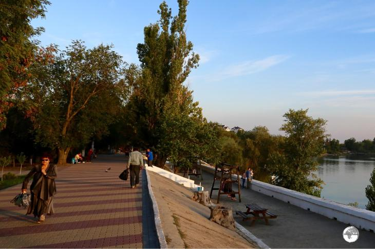 The promenade along the Dniester river is a great place to mingle with locals and watch the sunset.