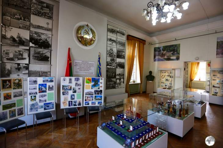 One of many rooms of exhibits at the Tiraspol National History Museum.
