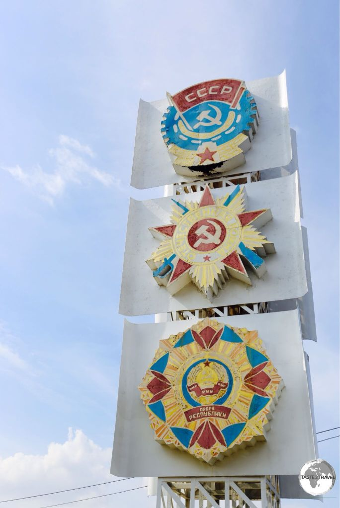 Soviet-era symbols can be found throughout Transnistria.
