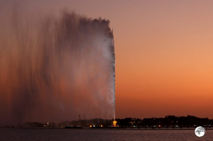 The King Fahd fountain in Jeddah – the tallest fountain in the world.