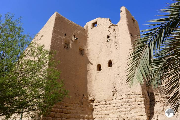 One of the many historic, mud-brick houses which can be seen in the Al Turaif district.