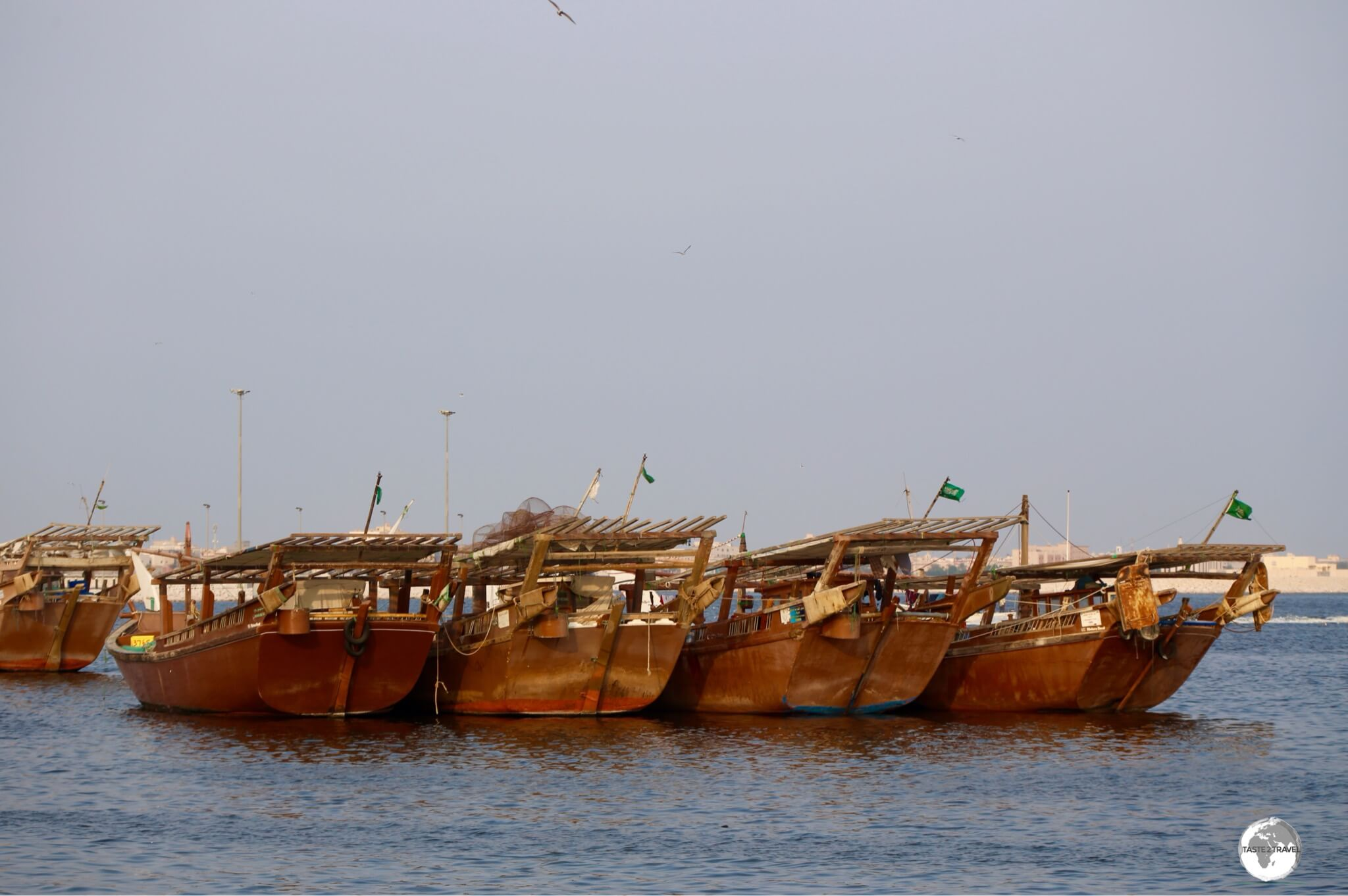 The dhow harbour which lies to the south of Tarout island.