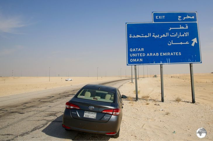 My rental car on the road to Al Hofhuf.