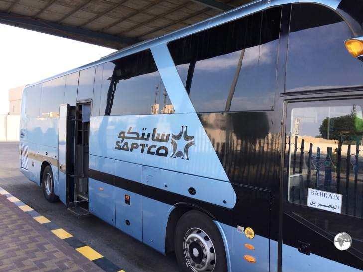 The Saudi state bus company, SAPTCO, provide regular connections throughout the country and to international destinations such as Bahrain.