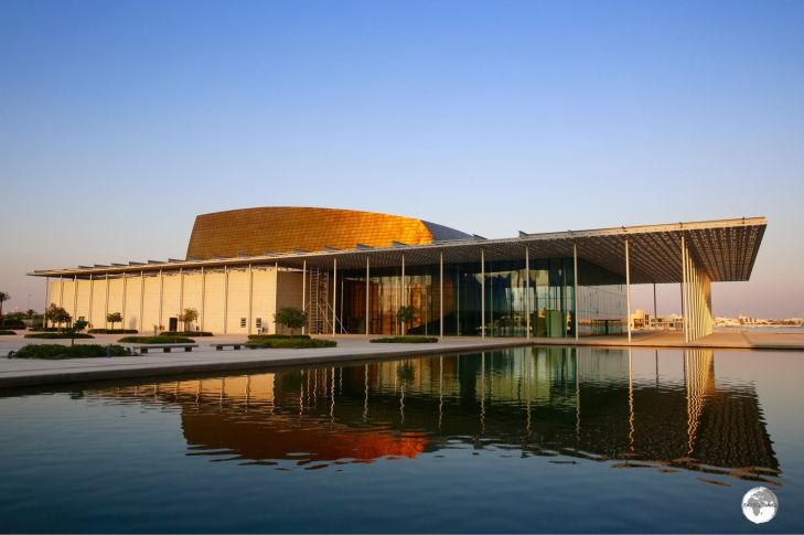 The National Theatre of Bahrain overlooks the Gulf.