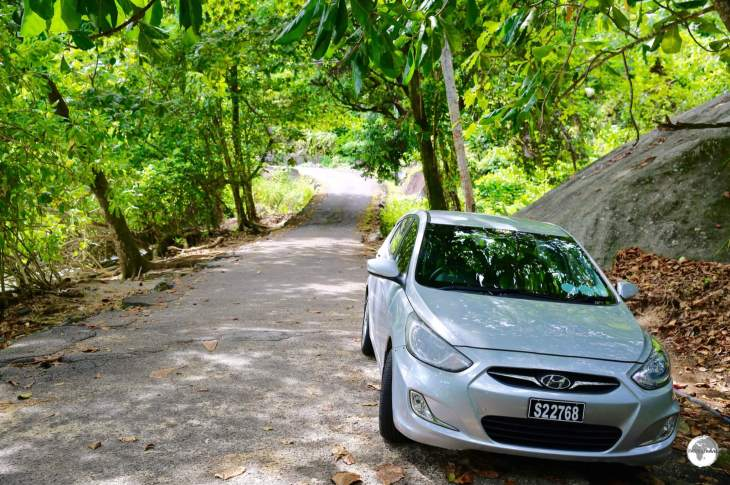 My rental car on Mahé, the best option for exploring the island.