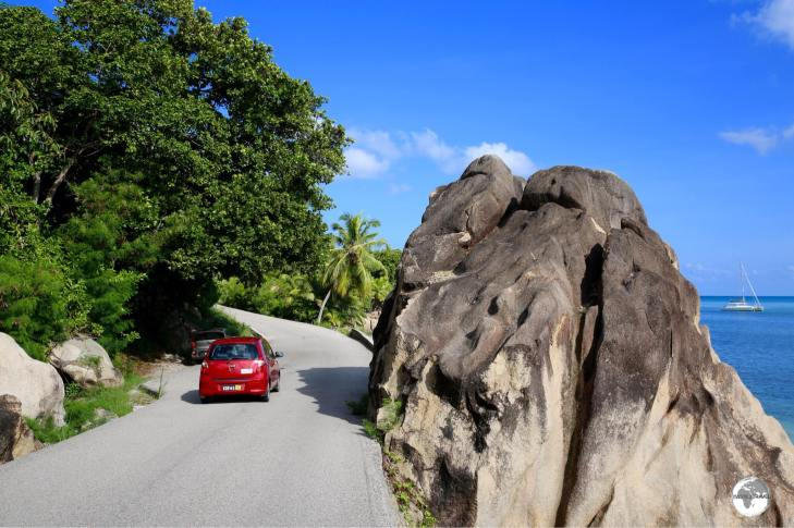 The best way to explore the quiet back roads of Mahé is with a rental car.