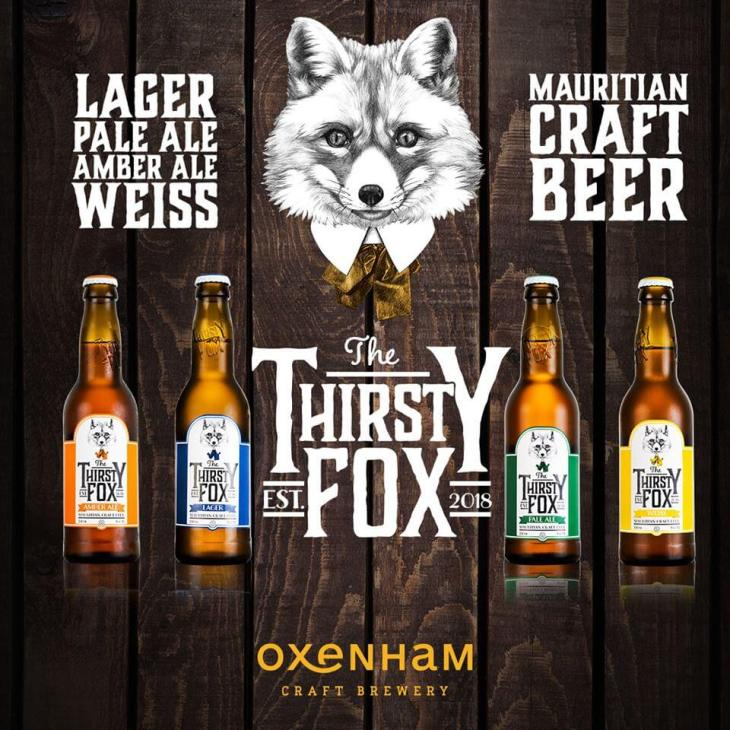 The full range of craft beers from the local Thirsty Fox brewery is available at the Banana Beach Club.
