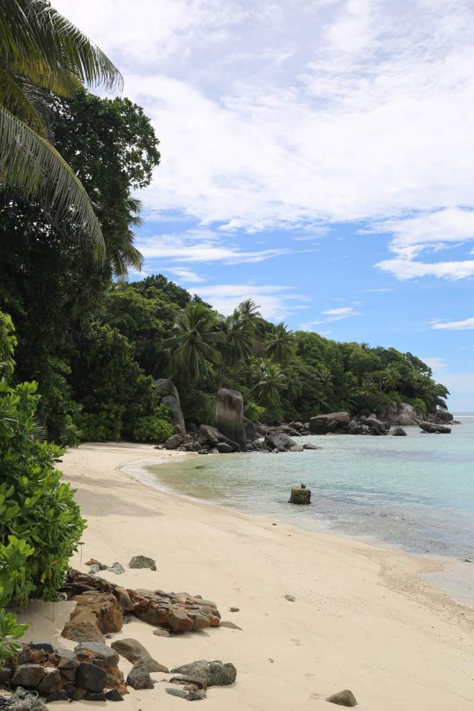 With its shallow water, Anse Royale beach is a popular swimming beach.