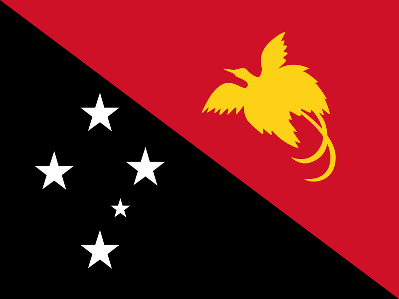The flag of Papua New Guinea Flag.