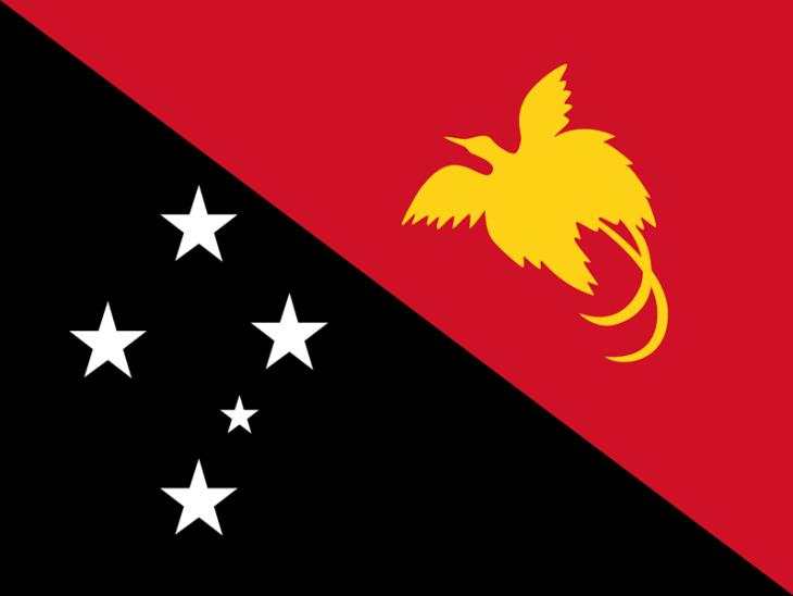 The flag of Papua New Guinea Flag.