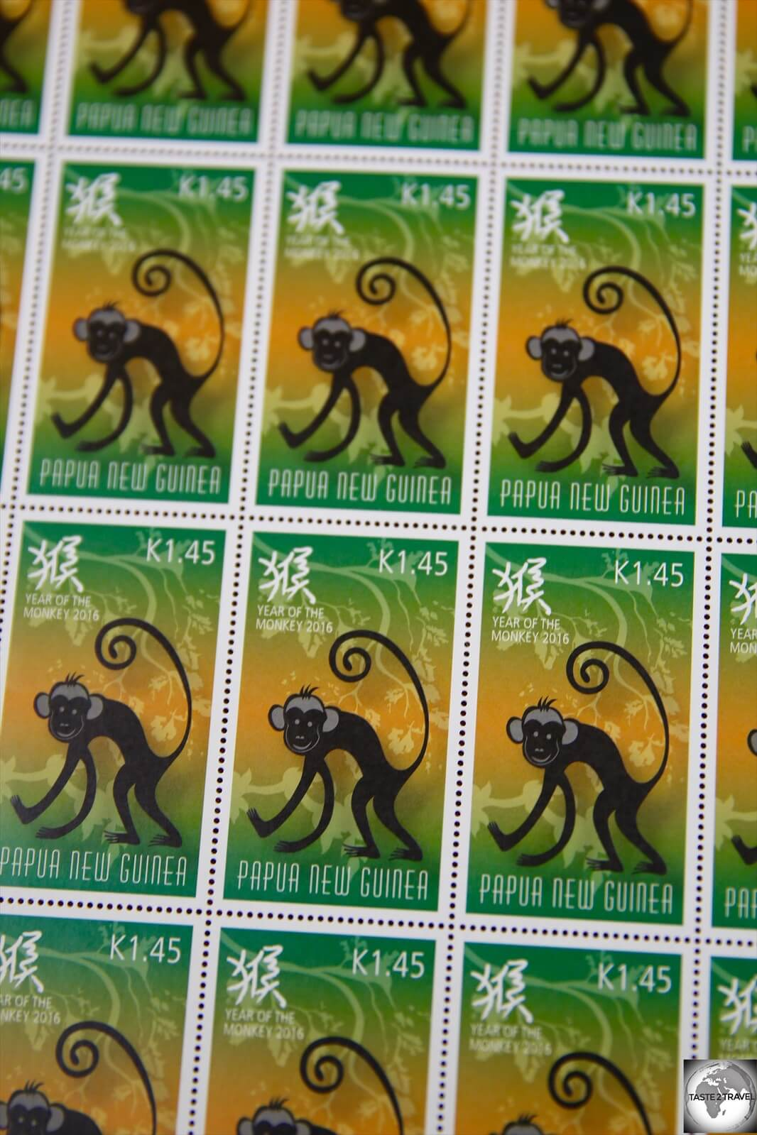 A stamp issued for the Chinese 'Year of the Monkey'.