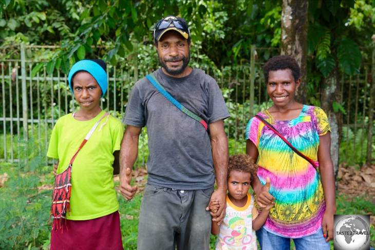 A friendly family in Lae.