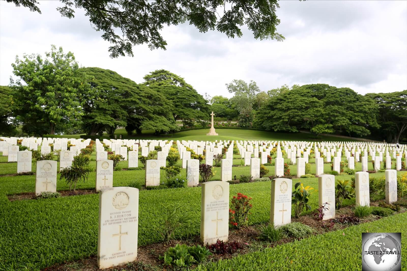 The beautifully maintained Bomana War Cemetery is the final resting place of 3,824 Commonwealth soldiers who died during WWII.