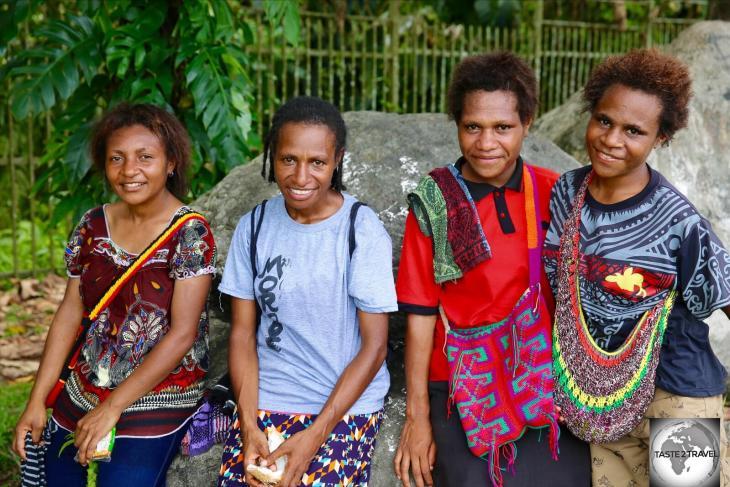 Papuan girls in Lae.
