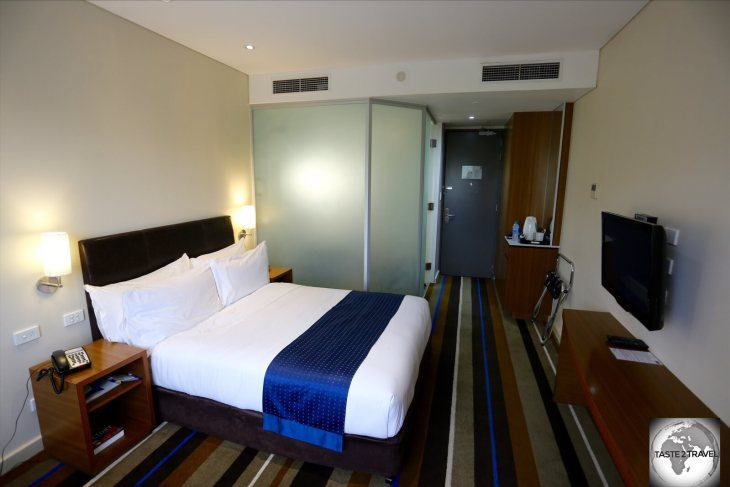 My room at the Holiday Inn Express Port Moresby.