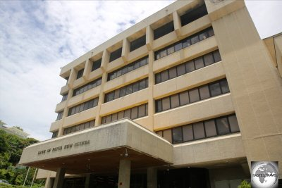The headquarters of the Bank of Papua New Guinea in Port Moresby.
