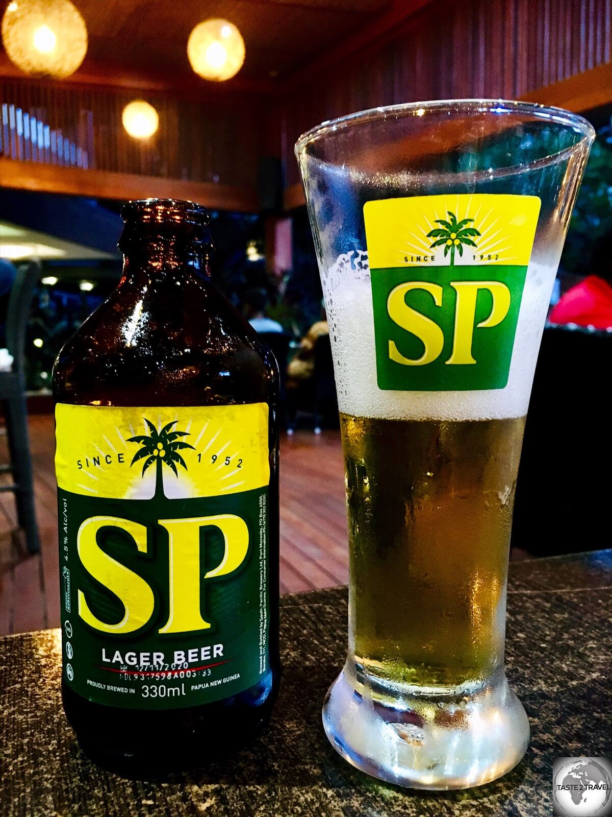 The most popular beer in PNG is brewed by the South Pacific (SP) brewery.