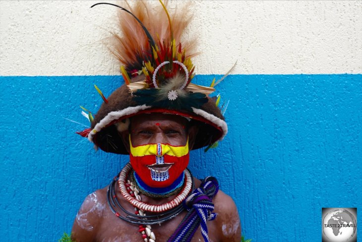The many different tribes of PNG can be recognised by their distinct facial paintings.