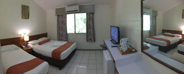 My room at the Huon Gulf Hotel in Lae.