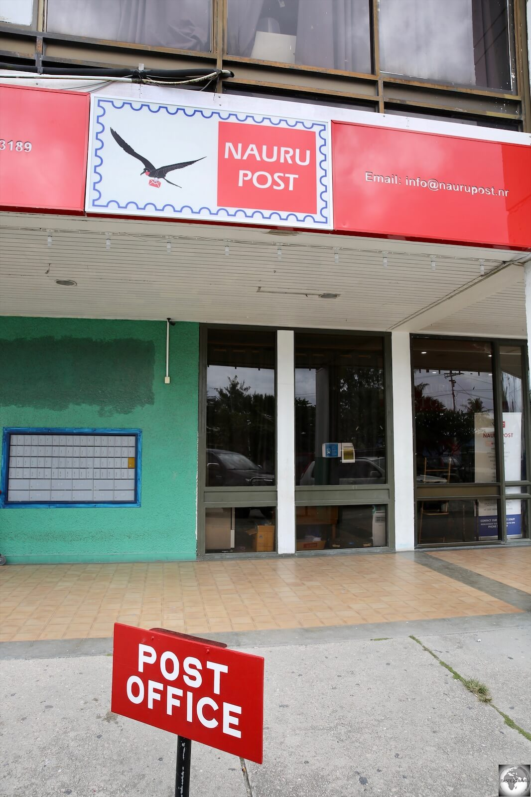 The one and only branch of Nauru Post at Civic Centre.