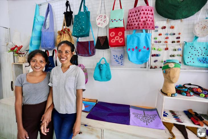 The wonderful staff at the Boneca de Ataúro boutique in Dili. A 'must-visit' shop for anyone spending time in the capital.