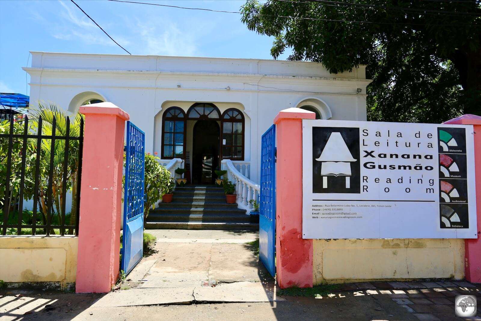 The museum at the Xanana Gusmão Reading Room complex is housed in a Portuguese-era building.