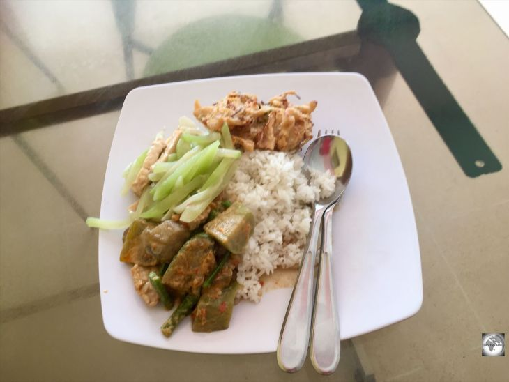 My lunch at the Starco Cafe, which offers Padang cuisine at a very reasonable price.