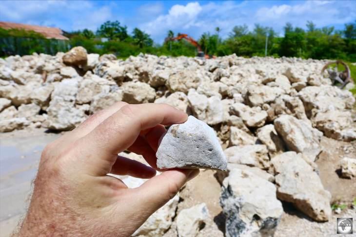 A quarry of phosphate rocks on Topside.