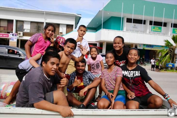 Friendly Nauru youth, on a shopping trip to Civic Centre.