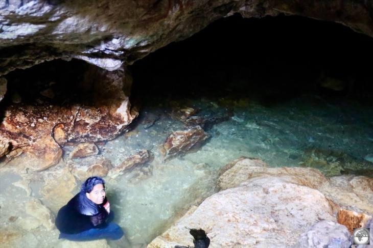 A surprising find on Nauru, the completely hidden Moqua Caves in Yaren.