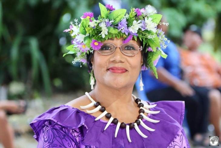 One of the judges at the Miss Nauru 2020 contest, Ms Ruby Amram.