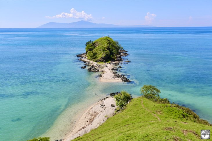 A view from the north coast of Timor-Leste with Atauro island in the background.