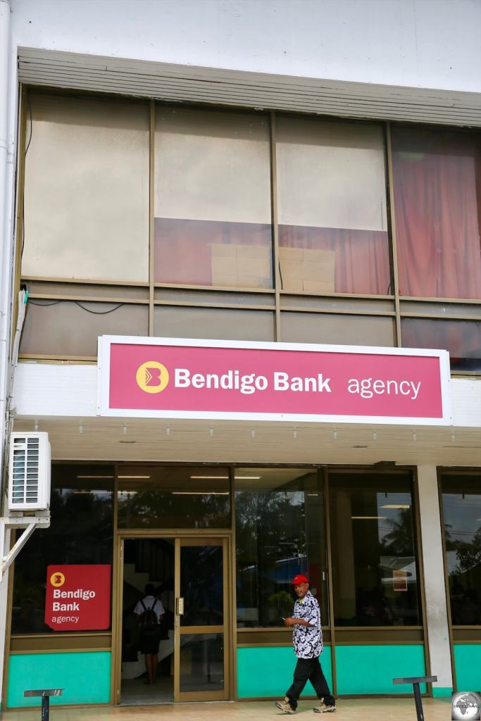 The only bank on Nauru, an agency branch of the Australian regional bank – Bendigo Bank.