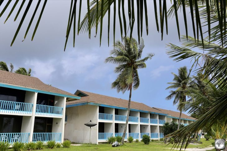 While on Nauru, I stayed in one of the seaside rooms at the Menen hotel.