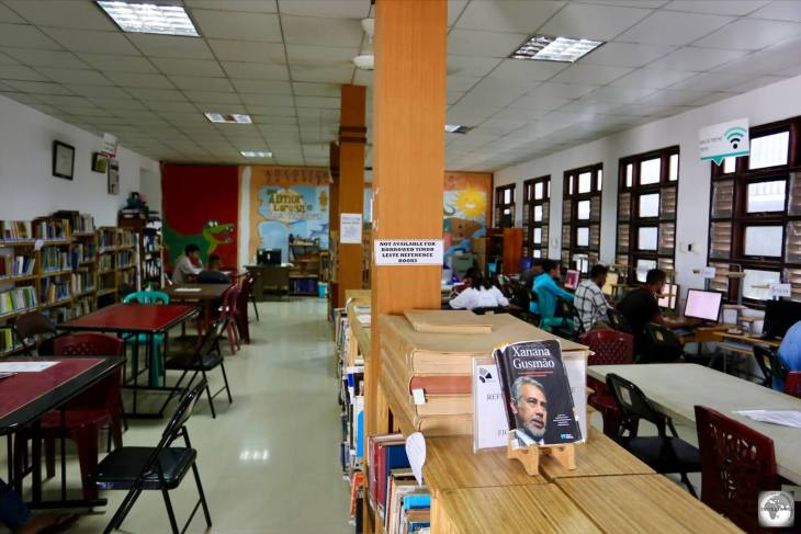 The Xanana Gusmão Reading room is a free library, which is popular with young Timorese students.