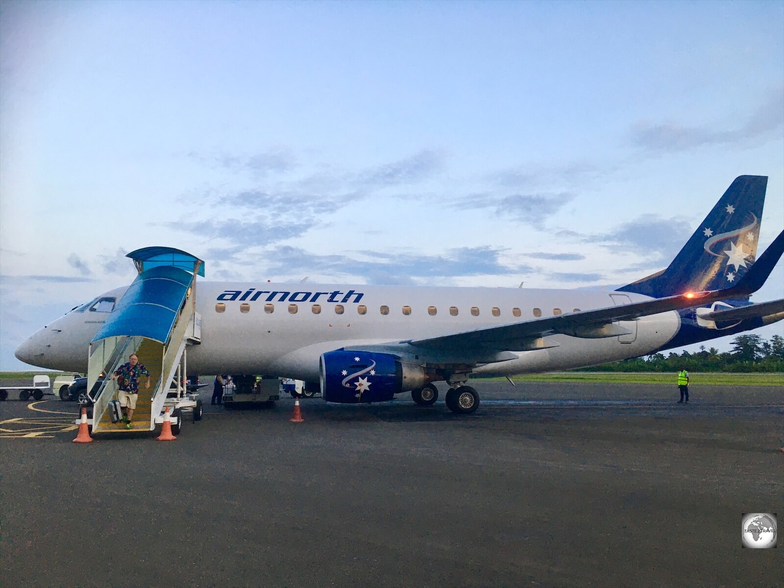 An early morning arrival at Dili airport. Airnorth connect Darwin to Dili on a daily basis.
