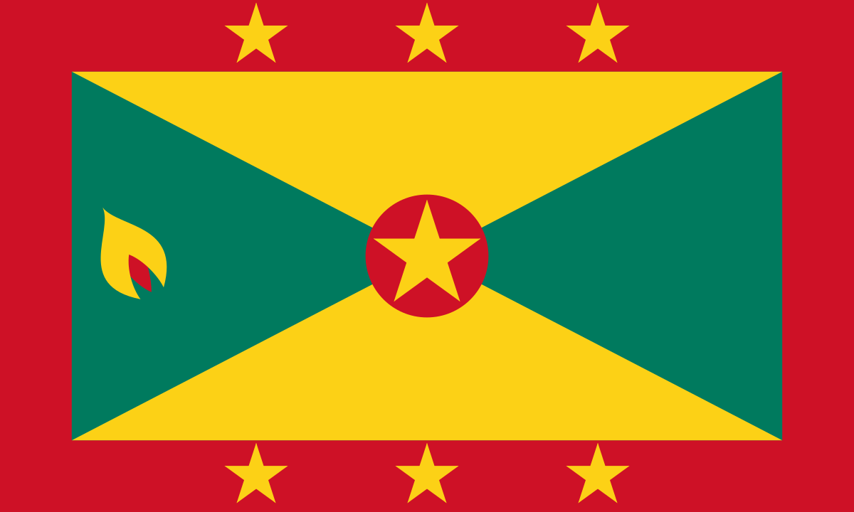 The flag of Grenada.